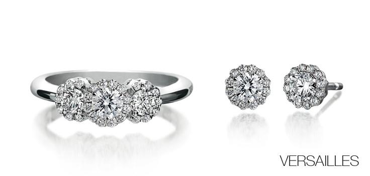 #Bibigi | Orecchini e anello in oro bianco e diamanti.