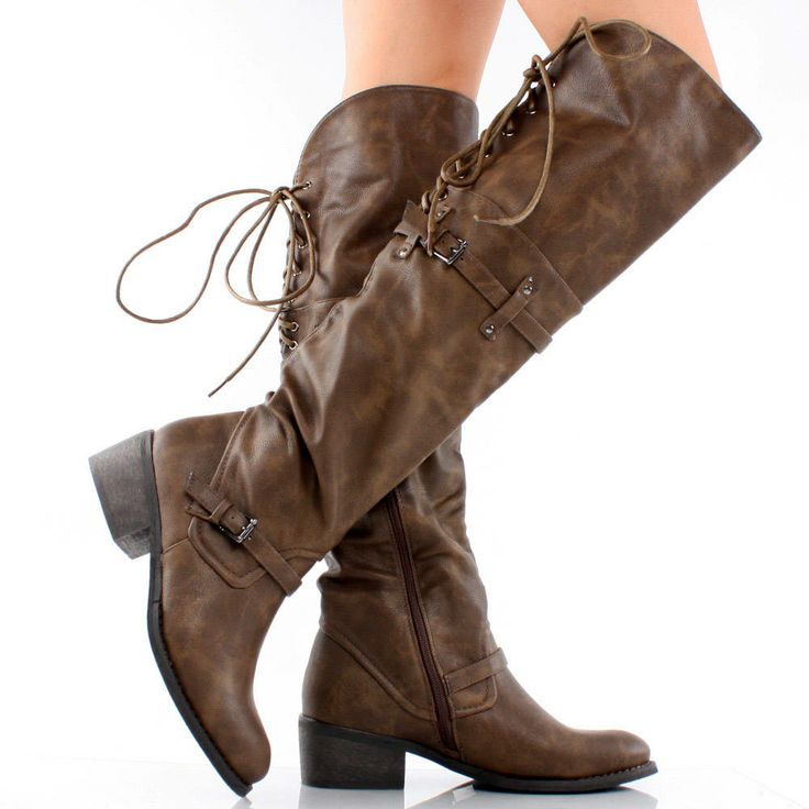 back lace up brown boots brown distressed lace up