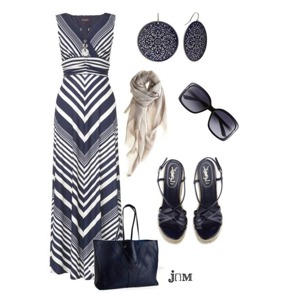 A fashion look from March 2012 featuring maxi dresses, high heeled footwear and tote handbags. Browse and shop related looks.