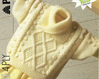 Childs Aran Jumper Knitting Pattern : 1000+ images about Aran crochet & knitting on Pinterest Cable, Ravelry ...