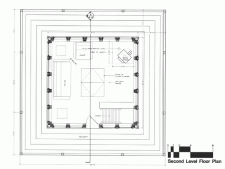 Second floor plan fire tower tiny house pinterest for Fire tower cabin plans