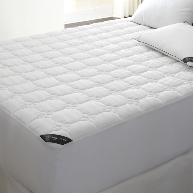 Behrens England 500 Thread Count Full Protection Waterproof Mattress Pad Queen Size