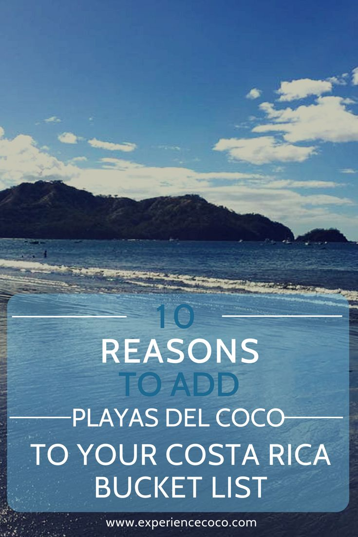 Playas del Coco, in the Guanacaste province of Costa Rica, belongs on your Costa Rica bucket list. Here's why. #CostaRica #travel #traveltips