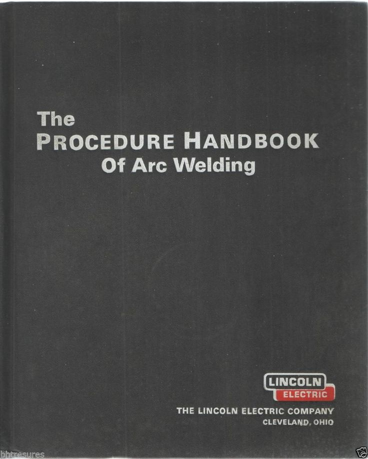 THE PROCEDURE HANDBOOK OF ARC WELDING 12th EDITION 1973 LINCOLN ELECTRIC #Welding #Book