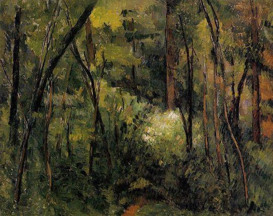 Paul Cézanne - In the Woods - 1885
