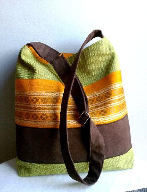 Crossbody bag  adjustable belt  messenger bag colored by IrisBags