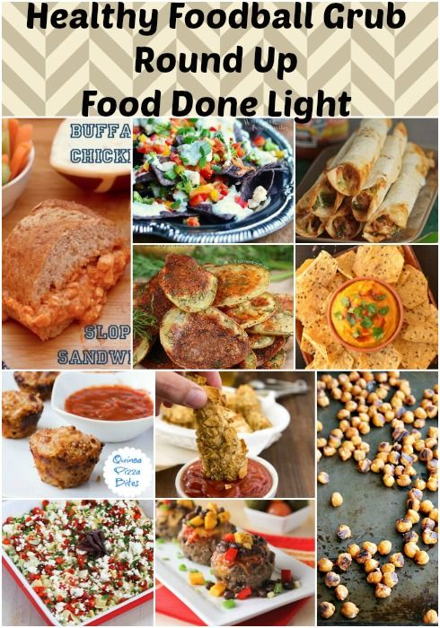 Healthy, Low Calorie Football Grub Recipe Round Up www.fooddonelight.com