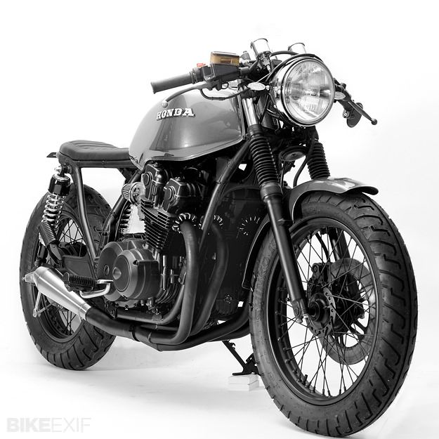 "Here's the latest from Florida's Steel Bent Customs: the mighty ""Hoang Build"" Honda CB750. Dig?"