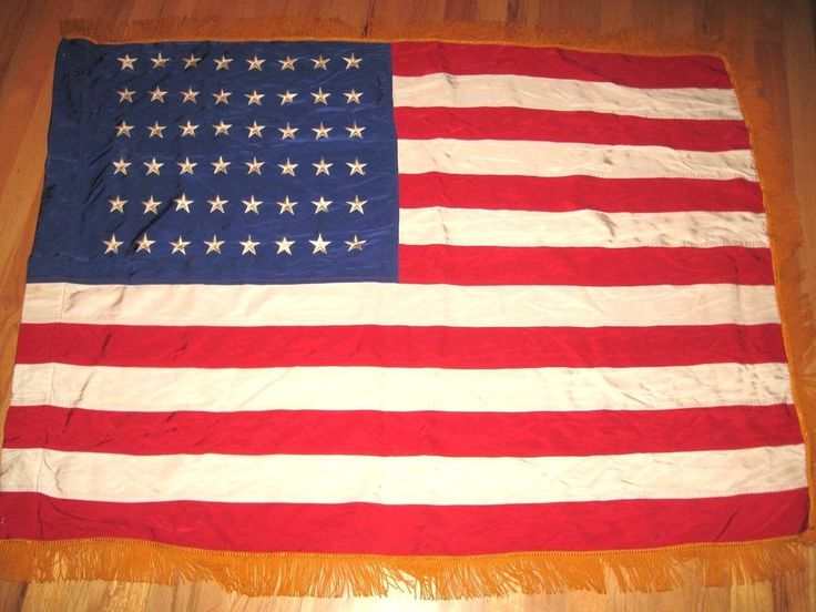 gold fringe on flag