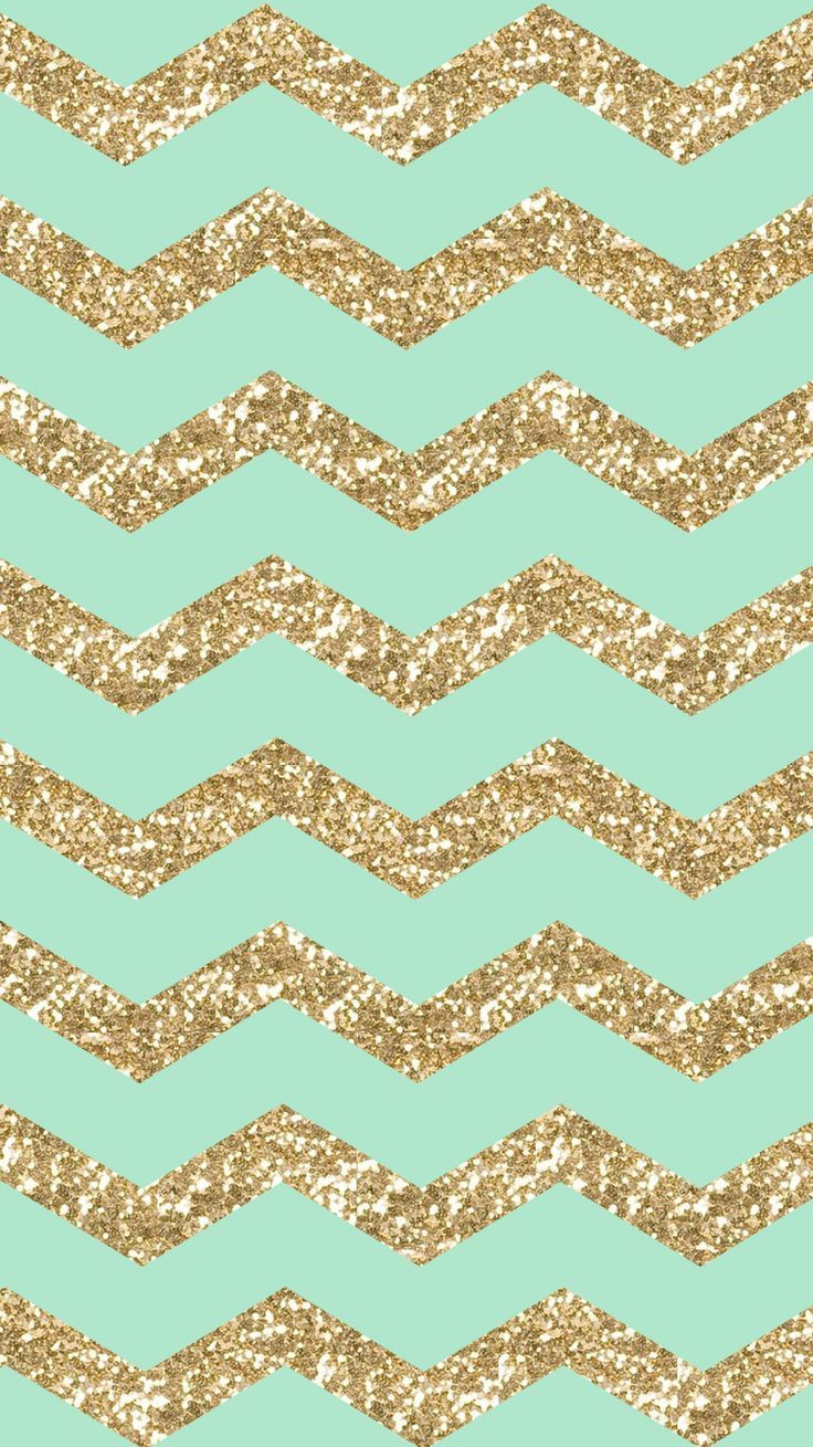 Shining	Pattern Zigzag Cute #Stylish #Girly Gold Glitter Sparkle Bright For Girls Mint Cool Samsung Galaxy S4/ S5/ S6/ Note Case Cover