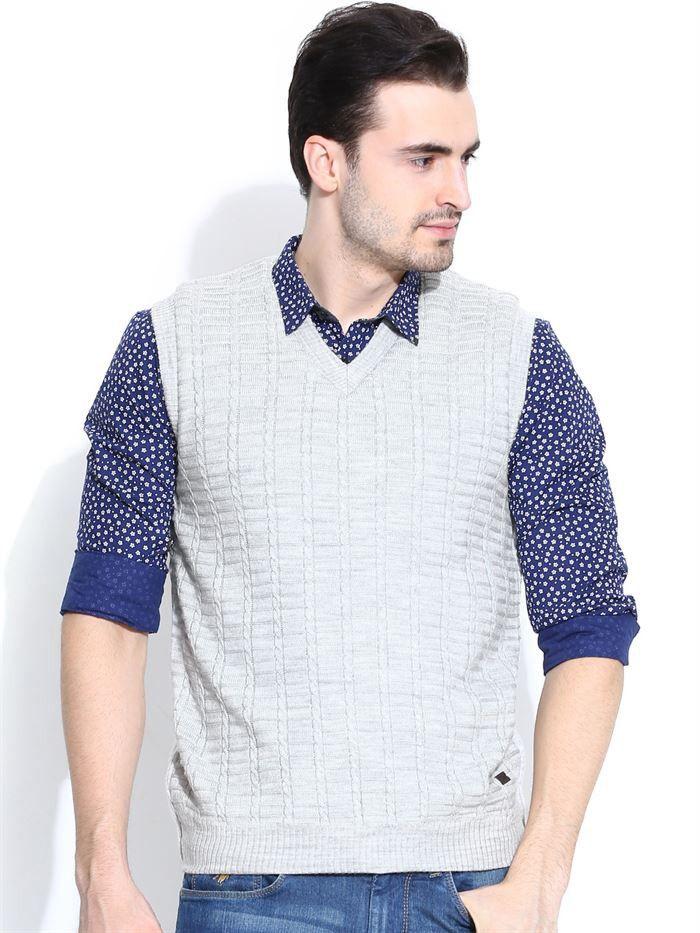 Its Now or Never! Flat 25% OFF on #Duke Men's Sleeveless #Sweater By @Return Favors. Shop online at:-http://www.returnfavors.com/brands/men/clothing/winter-wear/duke-men-black-melange-grey-sleeveless-sweater-by-returnfavors-3902.html