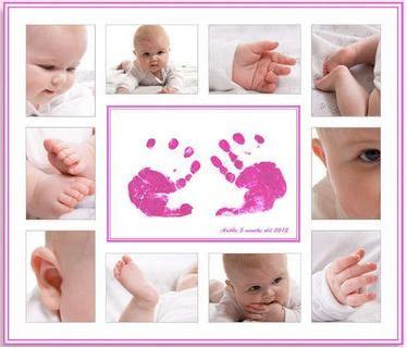 Idea Collage foto bebé.