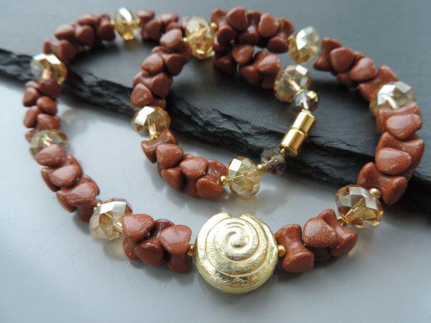 Weiteres - Goldfluss Collier mit Schnecke - ein Designerstück von Guggarella bei DaWanda
