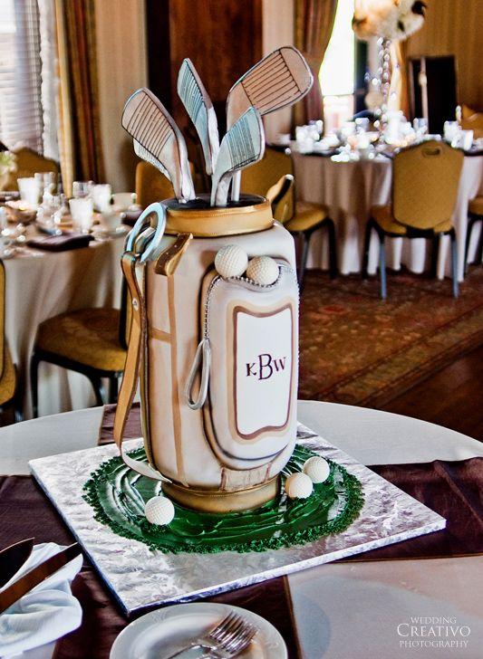 golf theme wedding reception - Novelty Cake