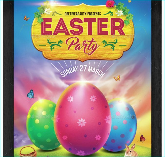 Easter Party Flyer - Party Flyer Templates For Clubs Business ...