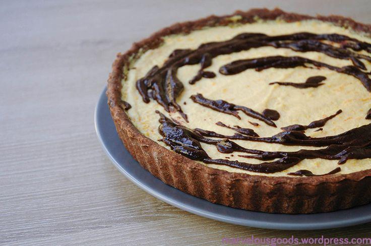 Tarta de portocale cu topping de ciocolata   #tart #orange #chocolate
