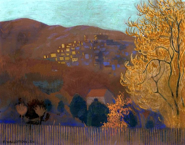 Cagnes Au Soir, 1924. Félix Vallotton (1865-1925) was a Swiss painter and printmaker associated with Les Nabis. He was an important figure in the development of the modern woodcut..