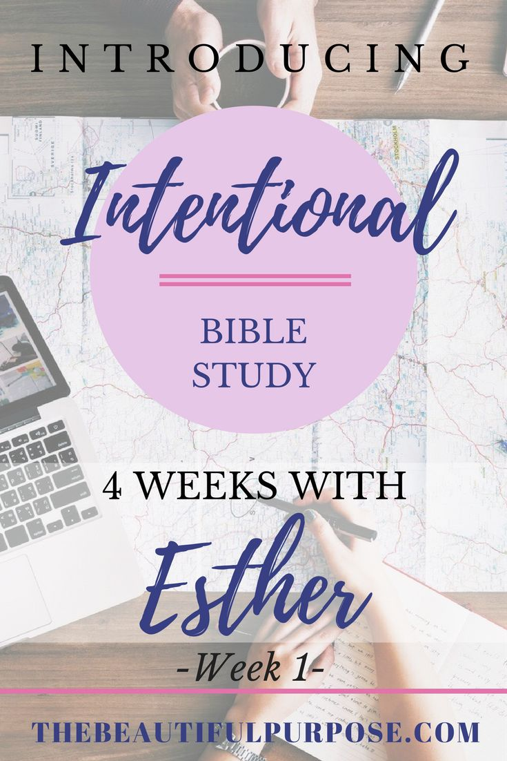 "Being ""intentional"" with studying the Bible is to really get deeper into what the Word of God says. I want to grow more intentional to grow closer to God and know Him more than I can ever imagine. So, ladies, I dare you to be ""intentional"" along with me as we study the book of Esther and her story before and after becoming Queen and how she risked her life to save her own people. So, go ahead get cozied and snuggled up with a cup of strong coffee or tea, and let's get intentional..."