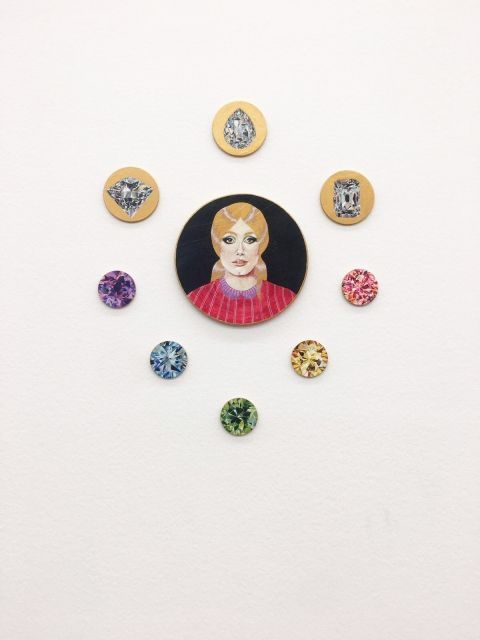 The diamond version of Catherine Deneuve is definitely a work of art we couldn't resist on stepping by, during our visit at the MAMCO Museum of Modern and Contemporary Art.  If you get the chance to travel to Geneva, don't you miss it!