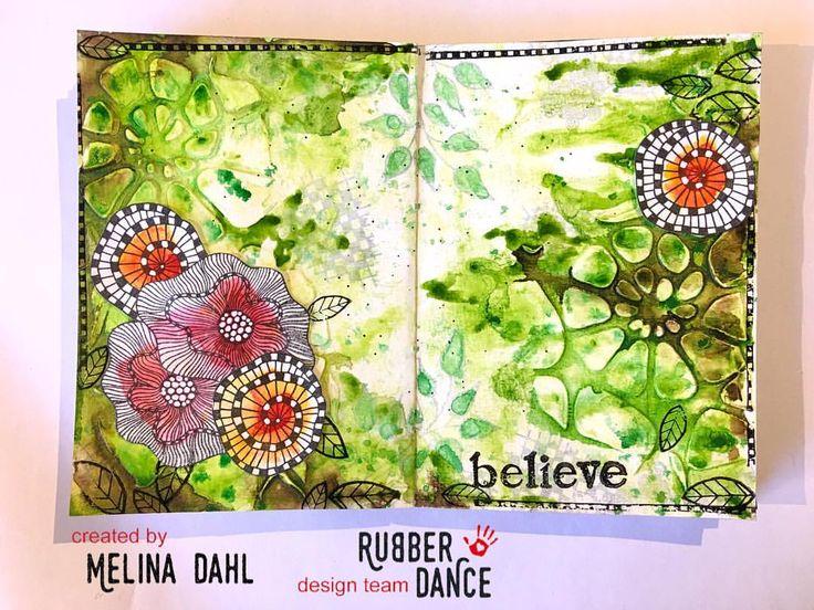 "166 gilla-markeringar, 6 kommentarer - Melina Dahl 🇸🇪 (@minaskreativa) på Instagram: ""New colour challenge at @rubberdance ✨ Come and join us! More information on my blog with a step by…"""