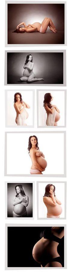 Studio style maternity Fotos lindas: sem coroas de flores e balanços no meio de uma floresta!