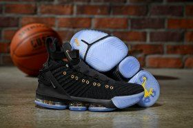 075d6daf1c54 HFR x Wmns LeBron 16 Nike Black Gold Men s Basketball Shoes