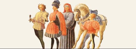 Paolo Uccello - Predella di Quarate- Coming from the Church of San Bartolomeo a Quarate,  Bagno a Ripoli (Florence) - Adoration of the Magi - 1435-40