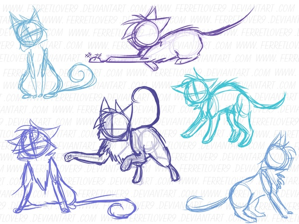 186 Best Images About Dessins On Pinterest Cats Cat