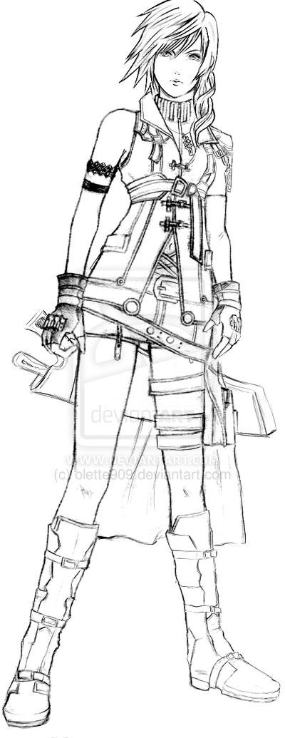 final fantasy character coloring pages - photo#10