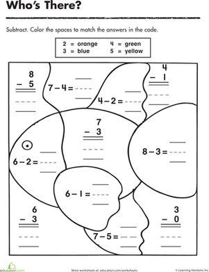 Coloring Math Worksheets Kindergarten