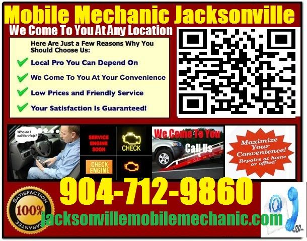 Mobile Mechanic Saint Augustine Florida Auto Repair Service Garage shop that comes to you call 904-712-9860 http://jacksonvillemobilemechanic.com/auto-repair-service-in-saint-augustine-shop-on-wheels/