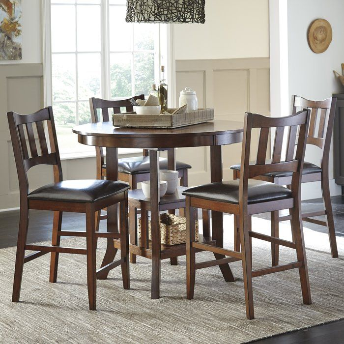 Zaftig Counter Height Extendable Dining Table