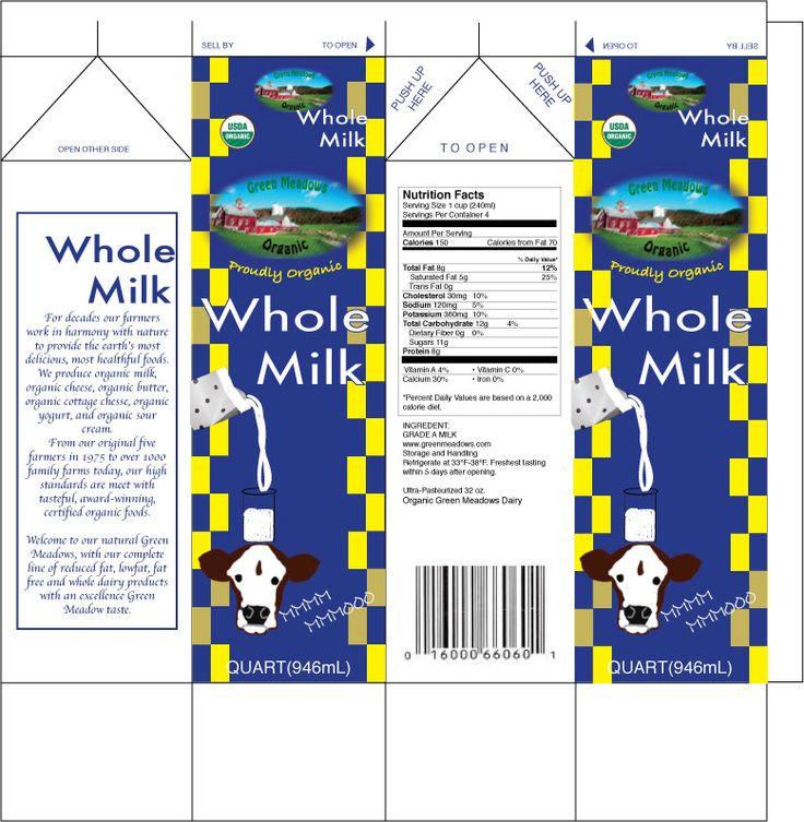 Printable Milk Carton Template | Milk carton for organic ...  Printable Milk ...