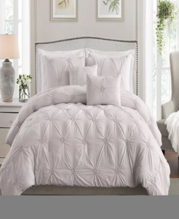 Floral Pintuck Twin/Twin Xl Comforter Set Bedding