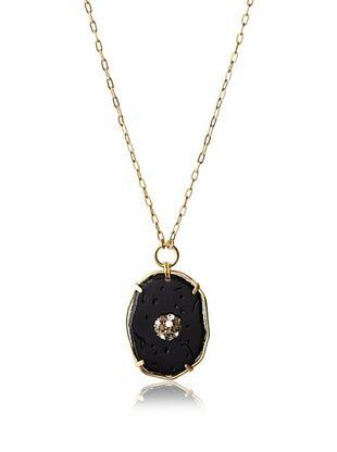 35% OFF T Tahari Oval Pendant Necklace (Black)