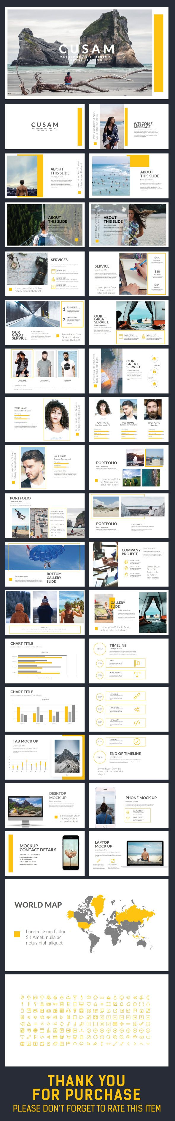 CUSAM #Presentation Template - Creative #PowerPoint Templates