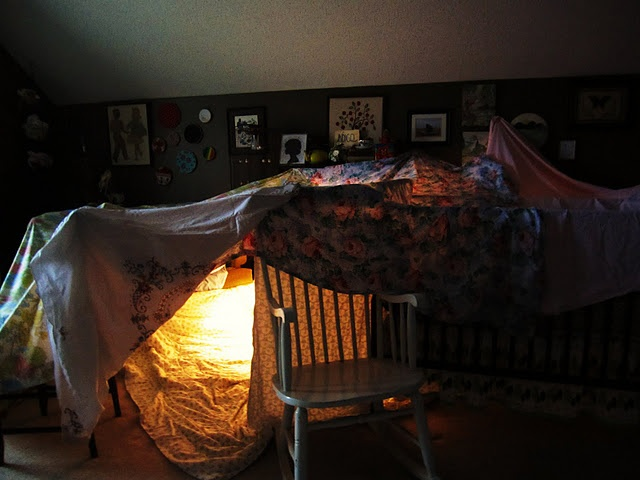 Create Blanket Forts All The Time, Like When We Were Kids.