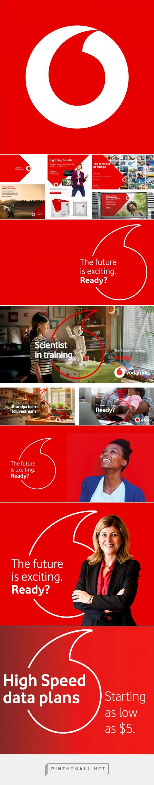 Brand New: New Logo for Vodafone by Brand Union... - a grouped images picture - Pin Them All