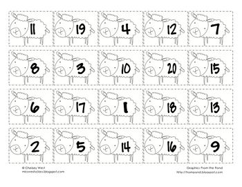 K.CC.4 This is a quick and easy assessment to see if your kiddies can order their numbers 1-20. I always let my kiddies color them, cut them, and glue the...