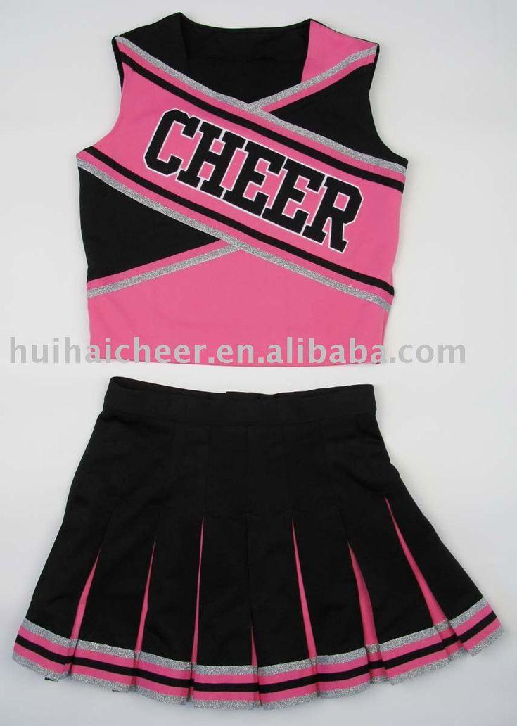 Cheerleading Uniforms:pink And Black Color - Buy Cheerleader…