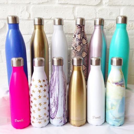Swell Water Bottles Sparkling Champagne 25oz Workout