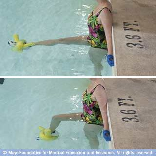 This is an easy one and I know the pool I go to has the noodles. Might try this before I invest in ankle weights.