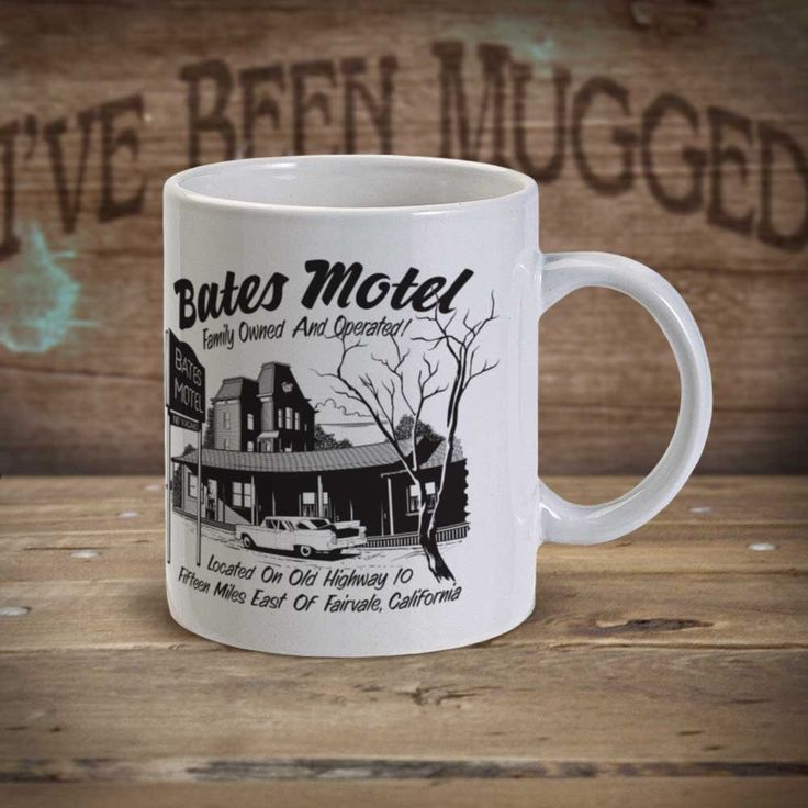 Bates Motel MG1138  Psycho Norman Bates Parody Coffee Mug by HitmanDesigns on Etsy https://www.etsy.com/listing/231206874/bates-motel-mg1138-psycho-norman-bates