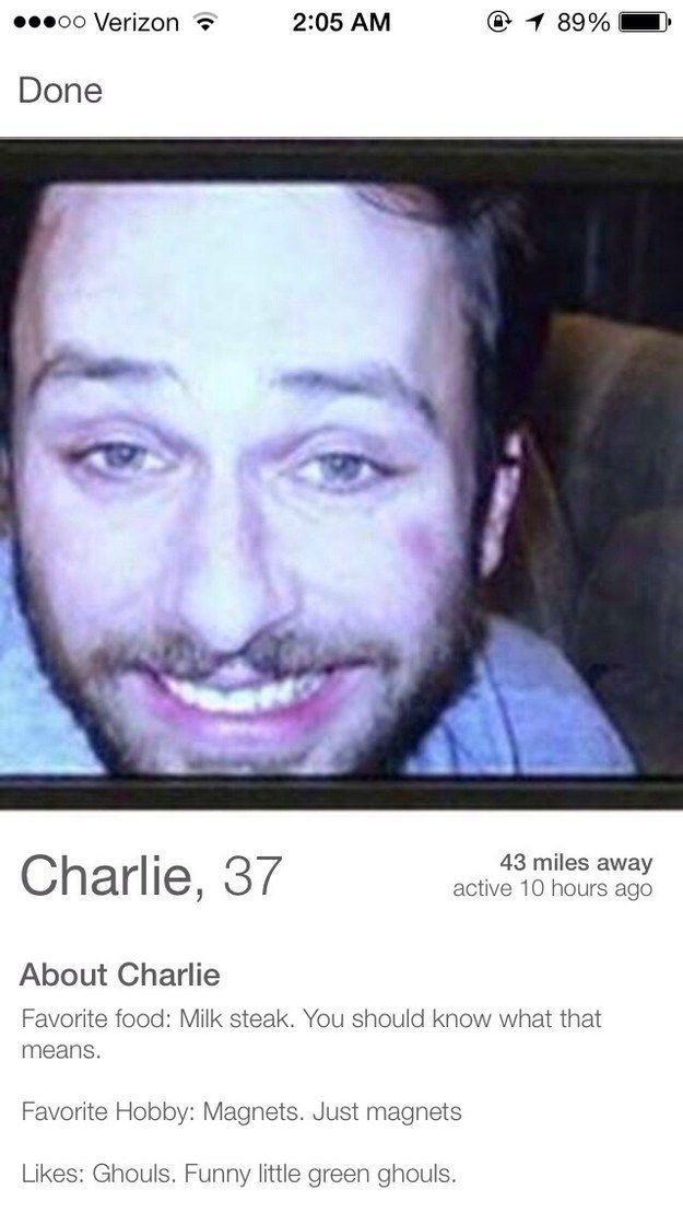 This Tinder profile.