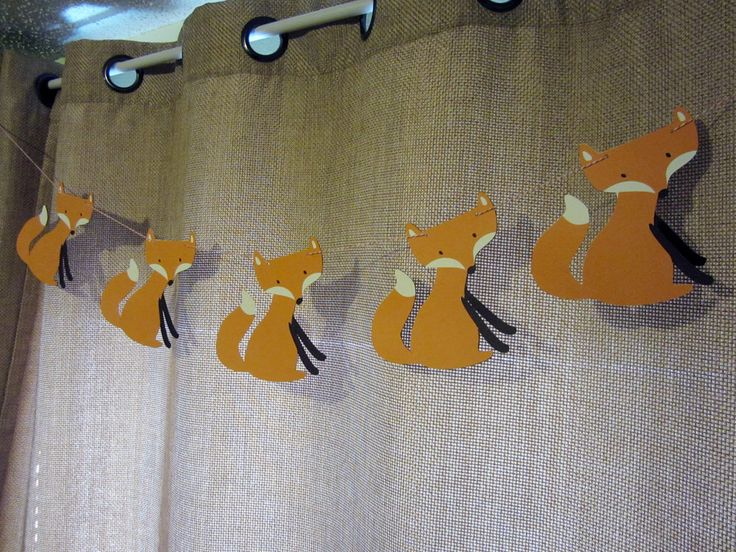 Woodland Fox Banner for Baby Nursery, Baby Shower, or Birthday Party by postscripts on Etsy https://www.etsy.com/listing/181799969/woodland-fox-banner-for-baby-nursery