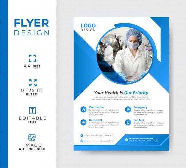 Medical Hospital Flyer Template Company Brochure Design Flyer Template Brochure Design