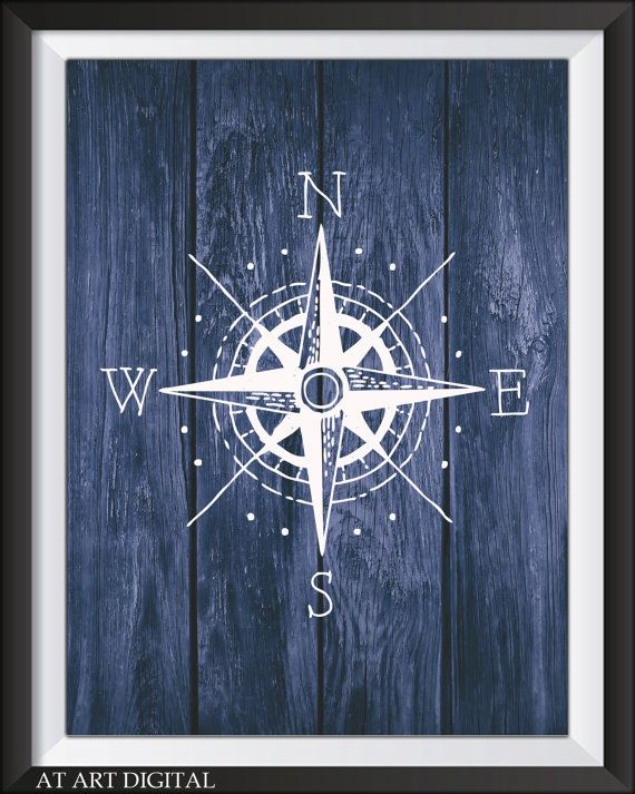 Stampa artistica bussola posa Nautica Poster Download