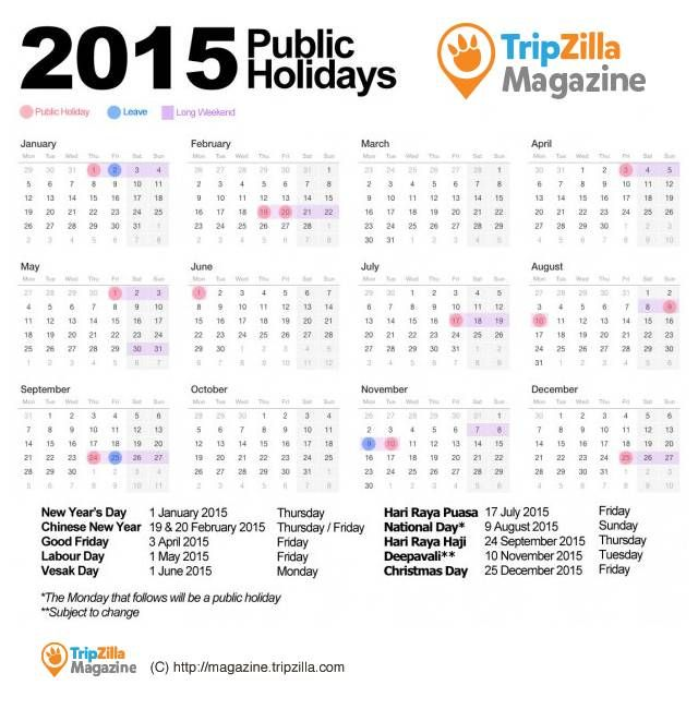 The 25 best national holiday calendar ideas on pinterest 10 long weekends to make 2015 an awesome vacations year for singapore us holiday calendarnational publicscrutiny Images