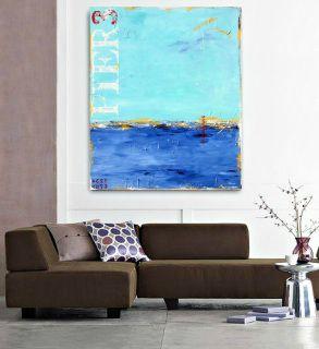 """Where the Wind Blows"" - coastal abstract art by Sabina D'Antonio"