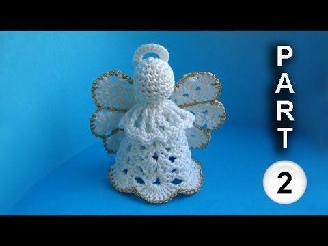 Crochet angel pattern Рождественский ангел Часть 2
